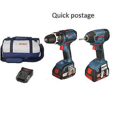 Bosch Blue 18V Lithium-ion 2 Piece Cordless Drill Kit