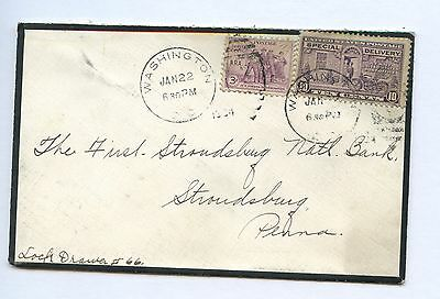 US Mourning Cover 1934 Washington DC to Stroudsburg, Pa via Special Delivery