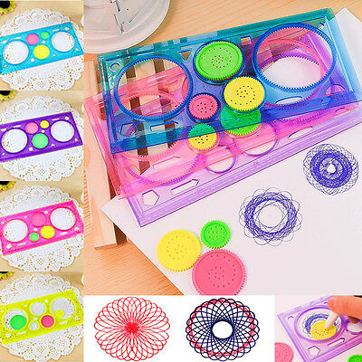 Top Painting Multi-function   Puzzle Spirograph Children Drawing Plastic Ruler