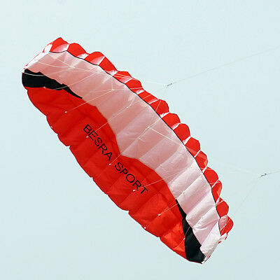 2017 NEW arrival 2.6m/8.5ft Dual Line power Stunt kite Beach surfing sport RED