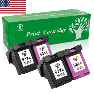4P High Yield Ink Cartridge Combo for HP 63XL Envy 4520 Officejet 3830 4650 3634
