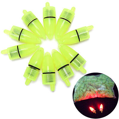 10 Pcs Fishing Light LED Alarm Floating Sensor Fish Signal Fishing Supplies R