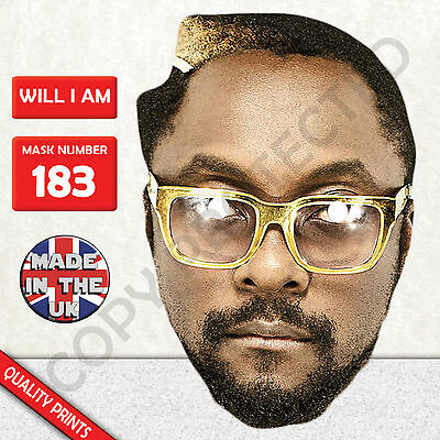Will I Am William Black Eyed Peas The Voice Celebrity Singer Card Mask