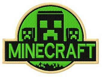 Sew-on Iron-on Minecraft Embroidered Patch Kids Badge