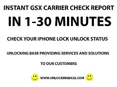 FAST iPhone Network Carrier Check Sim lock status check All Models