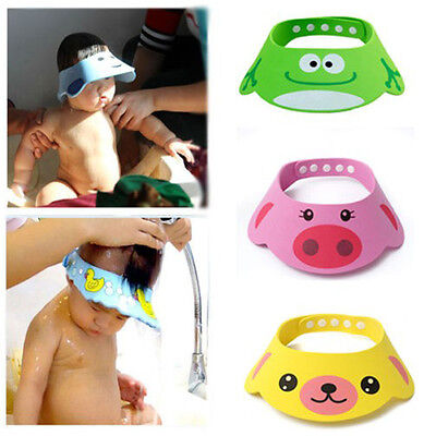 Safe Soft Shampoo Bath Shower Cap Hat Wash Hair Waterproof Shield For Kids Child