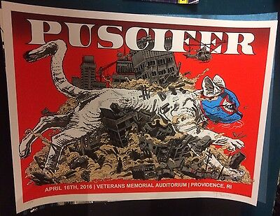 2016 Puscifer Tool Providence Lucha Libre Gato Concert Poster Doyle4/16 #/180S/n