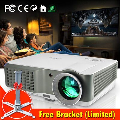 4000Lumens HD LCD LED Video Projektor Heimkino Beamer Film Spiel USB HDMI 1080p