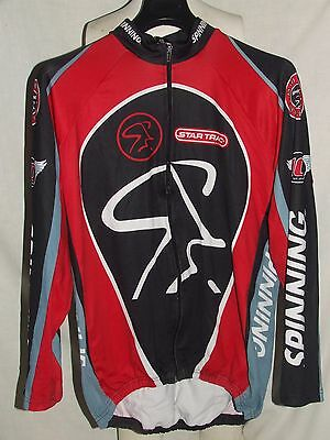 MAGLIA SHIRT MAILLOT CICLISMO CYCLISM BICI SPINNING INVERNALE (1309) tg. XL