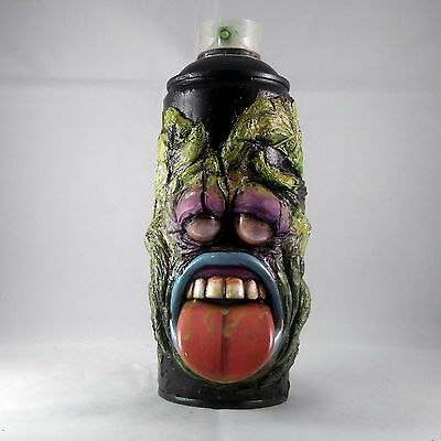 Spray Can Sculpture Slimer Graffiti Character Art Display Toy Green Creature New
