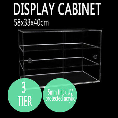 Large Deluxe Cake Cabinet Muffin Donut Bakery Pasties Acrylic Cupcake Display