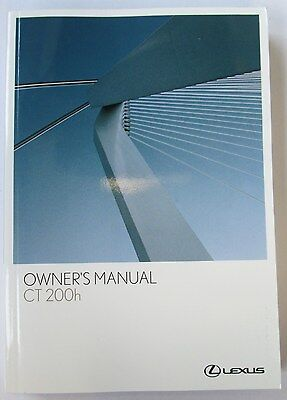 Lexus CT200h F Sport Owners Manual Handbook with Wallet 2010 - 2014 01999-76102