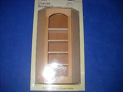 Dollhouse miniature:  corner bookcase by Houseworks, NIB, 1:12 scale, #5026