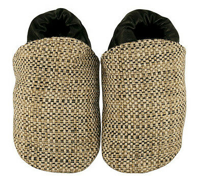 NEW Beige tweed fabric baby shoes by Cheeky Little Soles