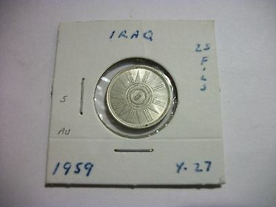 Iraq 1959 25 Fils Silver foreign Coin