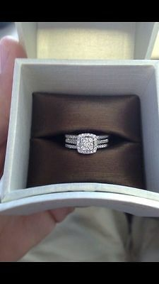 2CT Round Diamond Solitaire Engagement Ring Wedding Band  in 14k White Gold Over