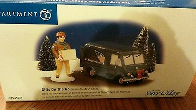Dept 56 Snow Village Collection Gifts On The Go Delivery Truck 56.55035