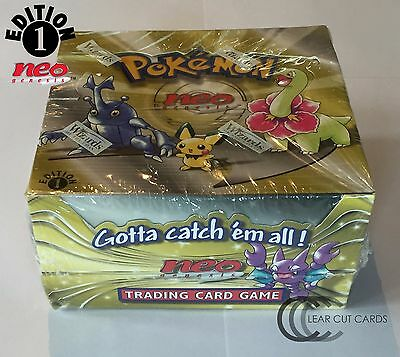 Pokemon 1st Edition Neo Genesis Sealed Booster Box - Wizards Of The Coast