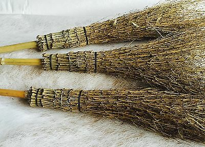 Bamboo Broom Garden Or For Fancy Dress. Witches Broom - Cheapest On Ebay