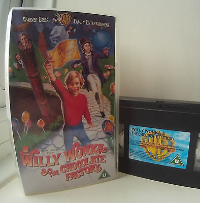 Willy Wonka & The Chocolate Factory (1971) Gene Wilder VHS Video