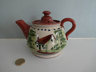 Vintage Devon/Torquay Pottery-Tea Pot  - house design