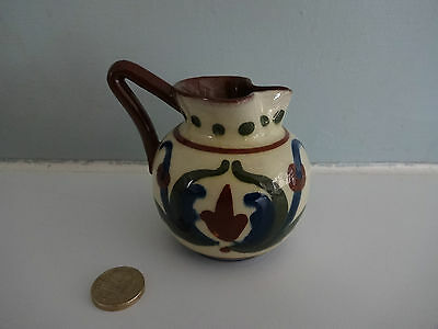 "Vintage Motto Ware Torquay/Devon Pottery-Small Jug ""Better slip the foot than th"