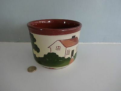 "Vintage Devon/Torquay Pottery - Plant Pot approx 4.5"" high & 5.5"" diameter"
