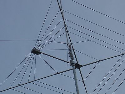 Complete 7 Band Twin Wire Hf Cobweb Base Antenna Custom Built 6 To 20 Mtr