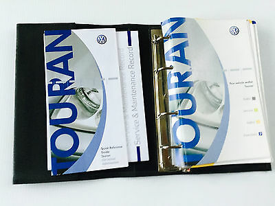 VW Volkswagen TOURAN Owners Manual Handbook & Service Book Pack 2001 to 2007