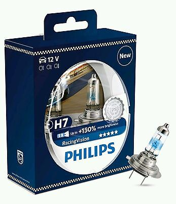 Philips H7 RACING VISION 150% Brighter Headlight Bulbs *NEW FOR 2016* 12972RVS2