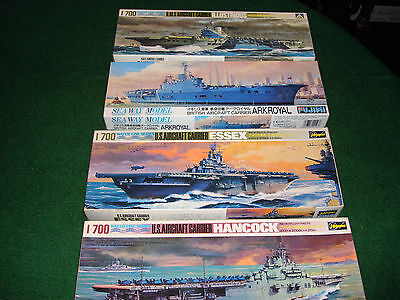 1/700th scale Aircraft Carriers  2 American & 2 British Carriers