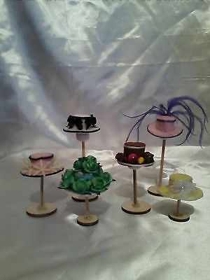 1/12th scale set of 6 mixed Hats (All Handmade)