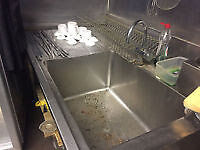 Commercial Double Sink Stainless Steel ,Immaculate Condition