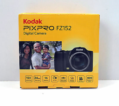 Kodak FZ152 Pixpro Friendly Zoom Digitalkamera 16 MP schwarz
