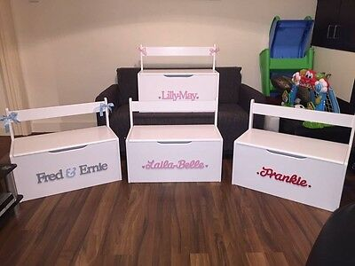 Personalised handmade wooden toy box/storage box/toy chest