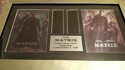 The Matrix Mounted 35mm Film Cells by Excalibur promotions. Original Print.