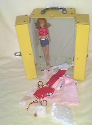 Vintage Titian Red Head Skooter Doll, Case, Clothes Collection Nice $49.99