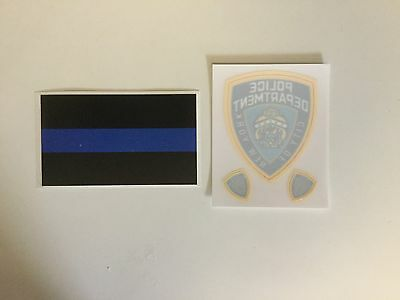NY-NYC,  NYPD Police InWindshield Decal + 2 Mini & Blue Thin Line Police Sticker