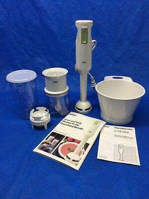 Braun Immersion (4169) White Handheld Corded Blender With Accessories