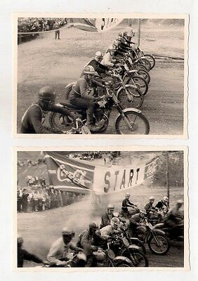 2 Fotos Start Moto-Cross Rennen Weissenbach 1964 (50)