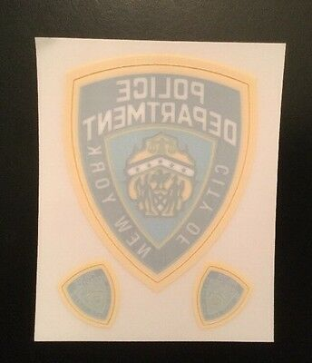 NY-NYC, NYPD (1 + 2) Mini In Windshield Decal Set As Shown ( 3 Decals On Card )