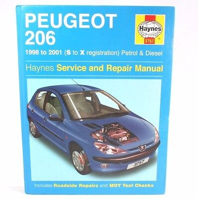 Haynes Service Repair Manual Peugeot 206 1998-2001 Petrol Diesel Maintenance