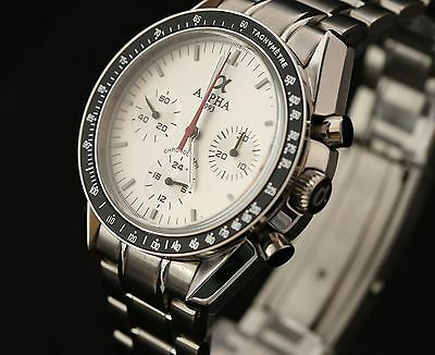 Alpha Speedmaster Chronograph Watch Silver Dial  Brand New Limited Edition