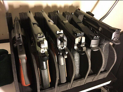 6 Guns Storage Rack Safe Pistol Modular Holder Handgun Rest Display Stand Safety