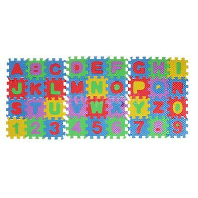 3pcs Foam Board Puzzle Jigsaw Game Kids Alphabet & Number Learning Play Mat