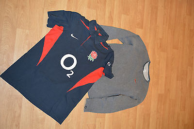 men's Nike bundle (2 items) english rose rugby polo shirt and jumper size M