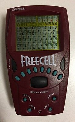 Vintage 1999 Radica FREECELL Solitaire Handheld Electronic Travel Game