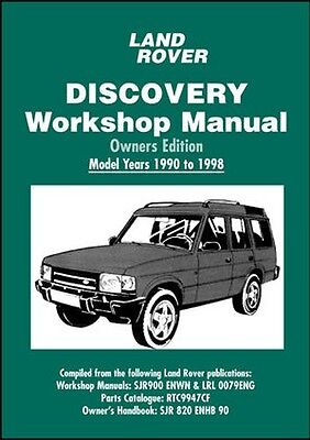 Land Rover Discovery 200 300TDI V8 Manuale D'officina 1990-1998 LRDYAW NUOVO