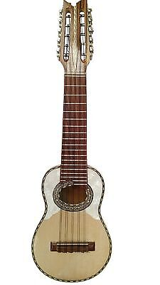 Charango with Armadillo carving made in Bolivia with gig bag