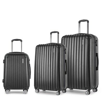 3 Pcs Hard Shell Travel Luggage with TSA Lock